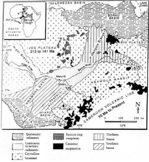 Evolution of Gongola Basin Upper Benue Trough Northeastern