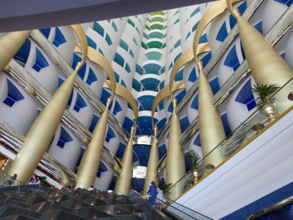 Looking up from lobby