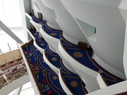 Looking down at the floors below