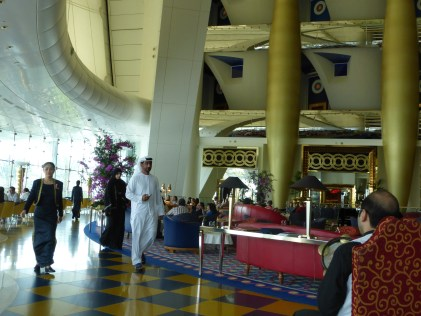 View of lobby where afternoon tea is held