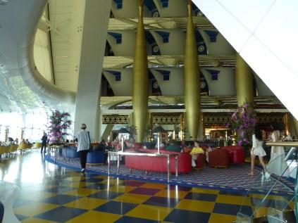 View of lobby of the Burg al Arab