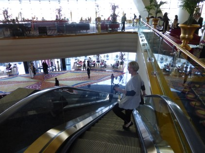 Reluctantly leaving the Burj Al Arab