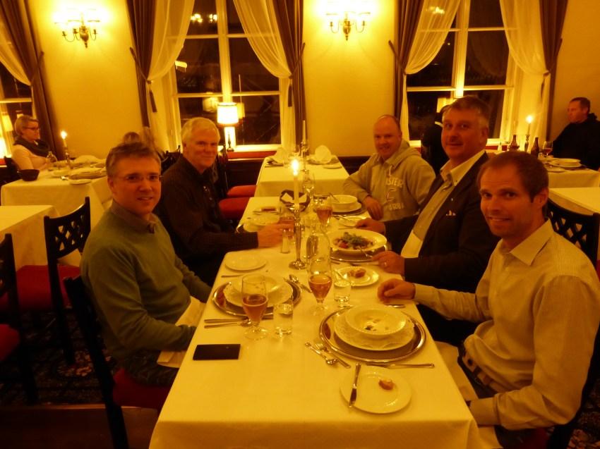 Mario, me, Jeroen, Ari, Pasi-Post cold dinner