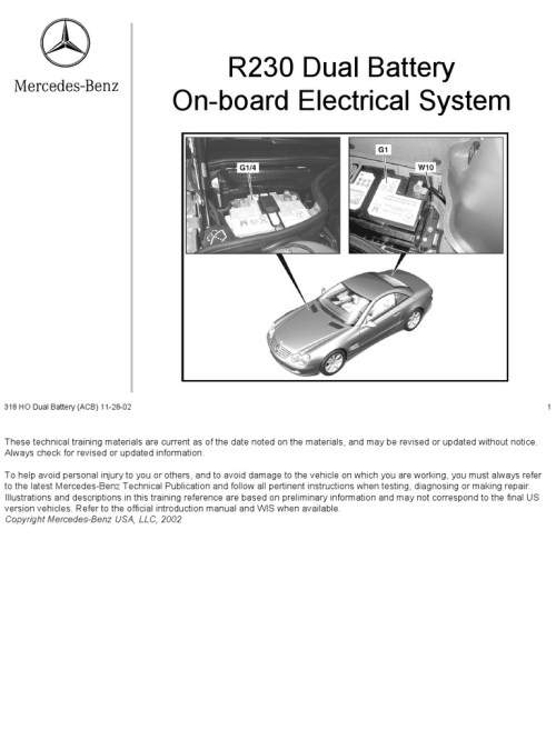 small resolution of 318 ho r230 dual battery system 11 28 02 docshare tips mercedes vacuum line diagram r230