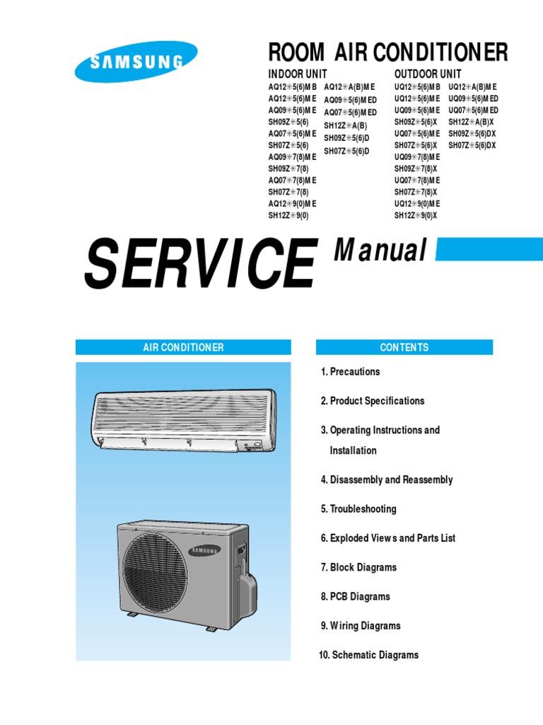 medium resolution of samsung air conditioner service manual