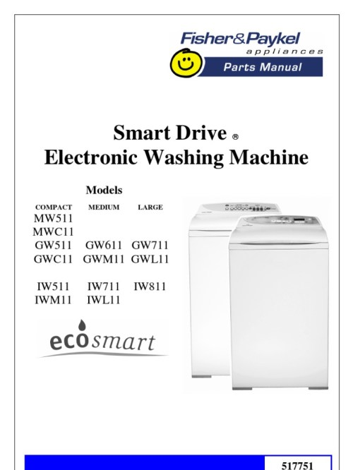 small resolution of parts manual fisher paykell smart drive electronic washing machine docshare tips