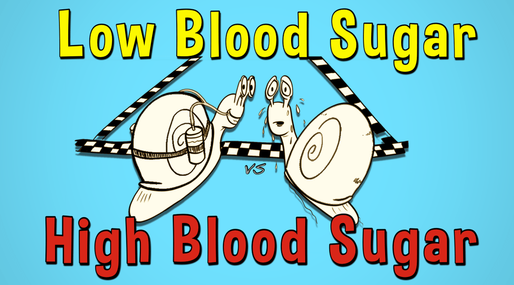 Hypoglycemia, hyperglycemia and blood sugar levels