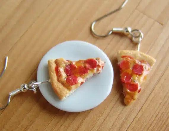 boucles d'oreilles pizzas
