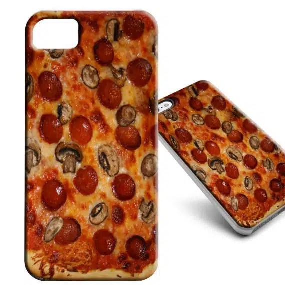 coque iphone en forme de pizza