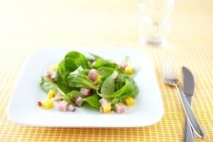 Salades d'etes - Recette de salade fraicheur jambon mangue