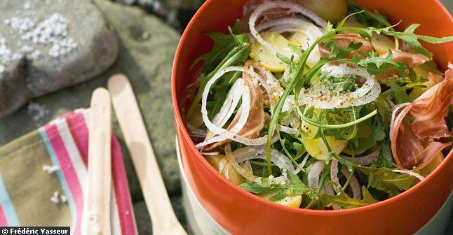 Salades d'étés - Recette de salade pommes de terre et lard fumé