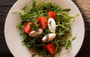 salade de roquette au chevre frais