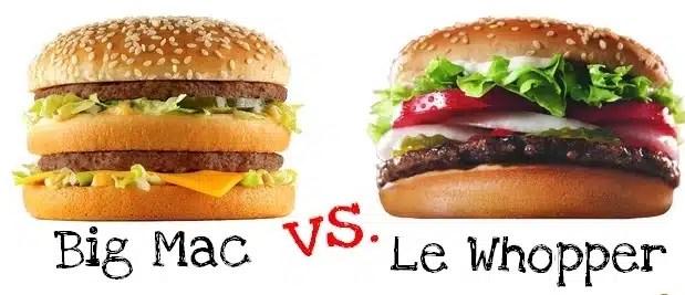 big mac ou whopper