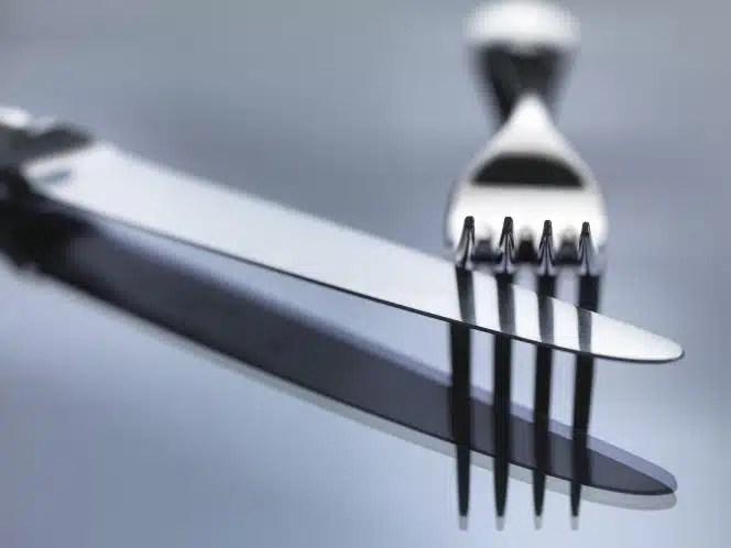 fourchette couteau alimentation