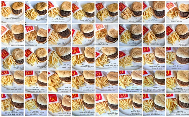 The Happy Meal Project: Une artiste photographie son Happy Meal pendant 3 ans