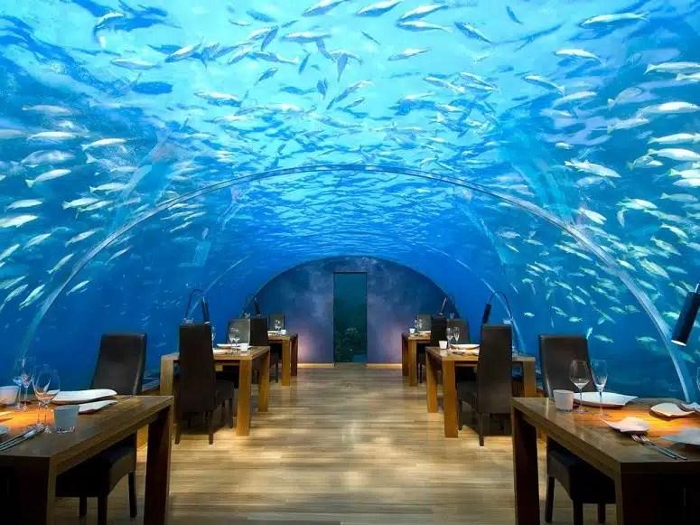 plus beaux restaurants au monde sous l'eau