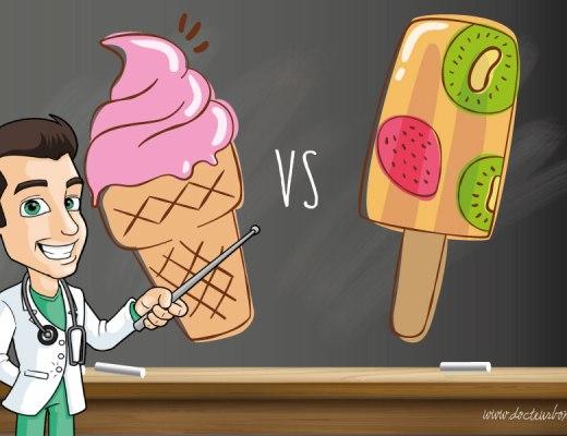 glace ou sorbet sante