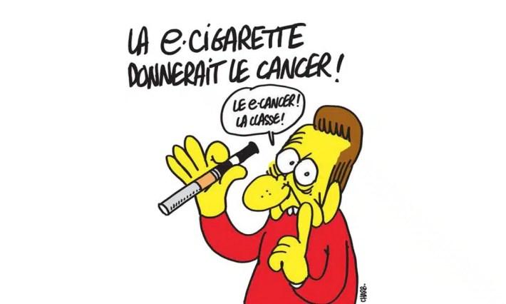 Charlie Hebdo - Dessin satirique cigarette électronique humour charb