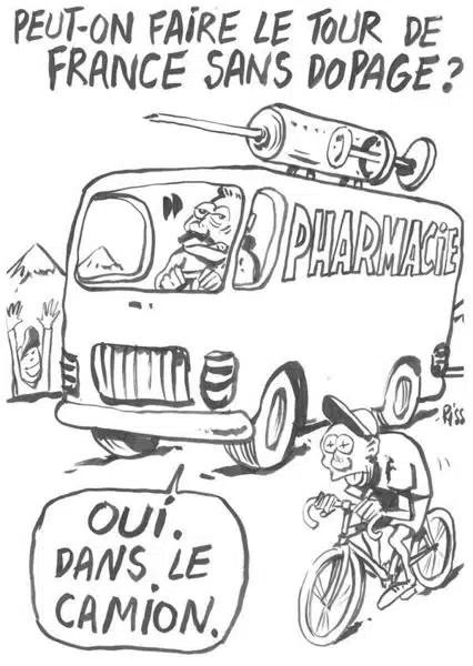 Charlie Hebdo - Dessin satirique dopage tour de france