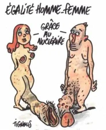 Charlie Hebdo - Dessin satirique nocivité nucléaire