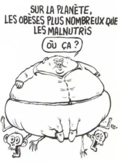 Charlie Hebdo - Dessin satirique obésité et pauvreté