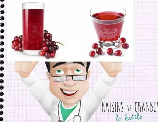 Cranberry ou raisins: quel est le meilleur