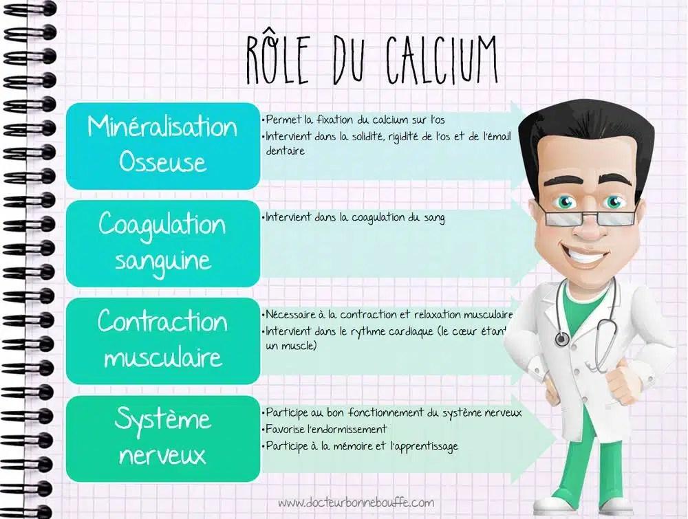 Rôle et fonctions du calcium
