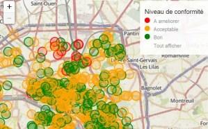Plan interactif des resultats des controles sanitaires