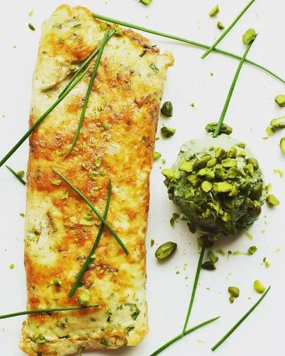 omelette spiruline
