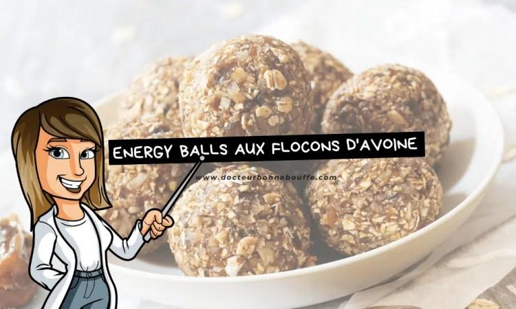 energy balls flocons d'avoine recette