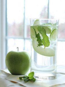 recette eau infusée pomme menthe