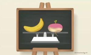 fruits ou legumes poids balance
