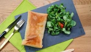 Recette Saumon et Epinards en feuilles de brick
