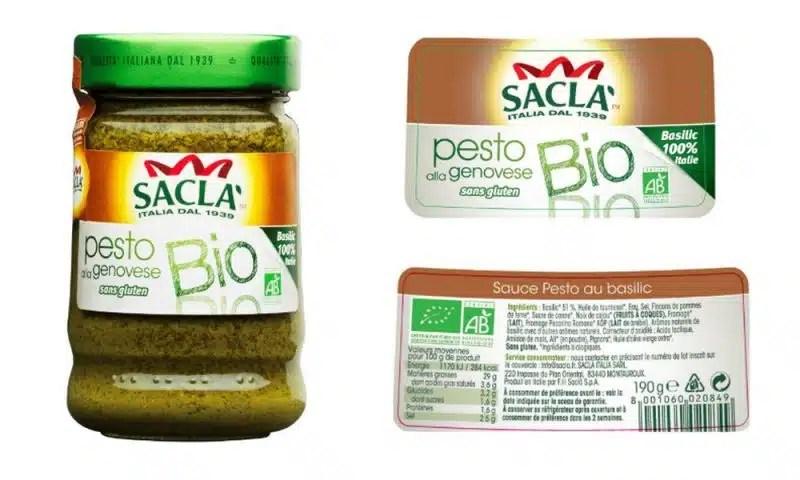 Pesto alla Genovese sans gluten bio Sacla