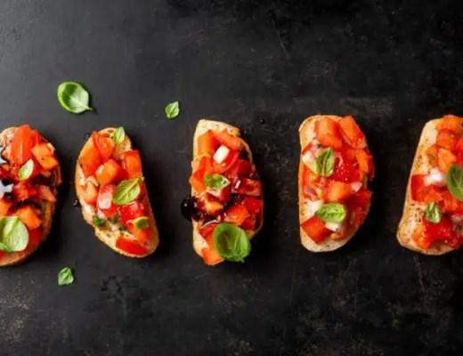 Les recettes de bruschettas italiennes healthy