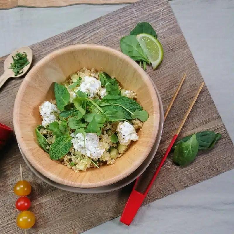 salade express quinoa recette healthy