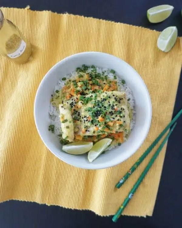 poisson au lait de coco gingembre recette