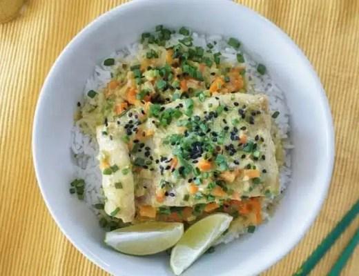 poisson lait de coco gingembre recette