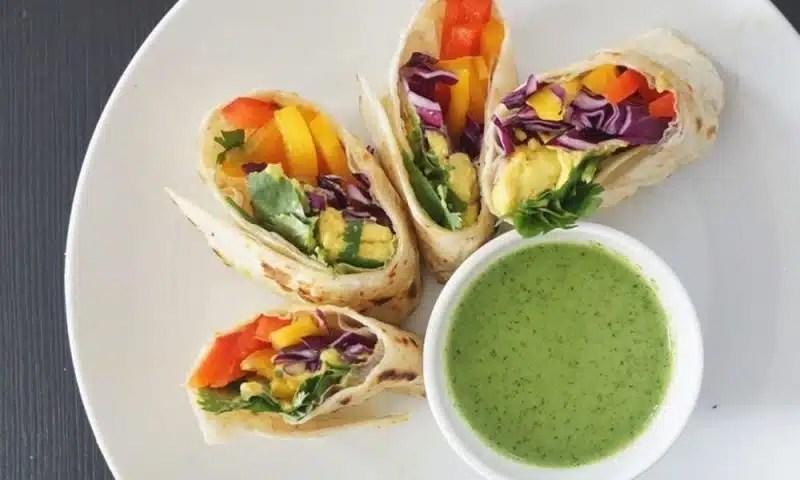 wrap de légumes arc-en-ciel recette