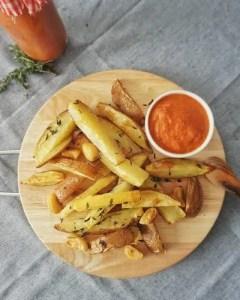 frites maison recette thym ail