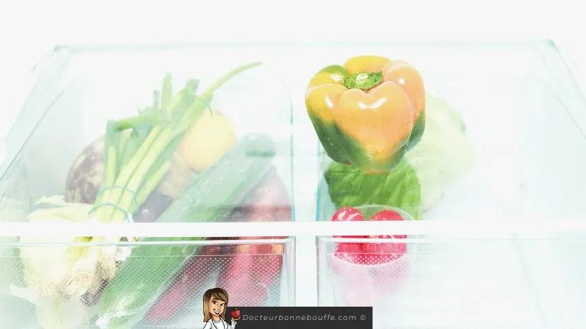 frigo riche en légumes