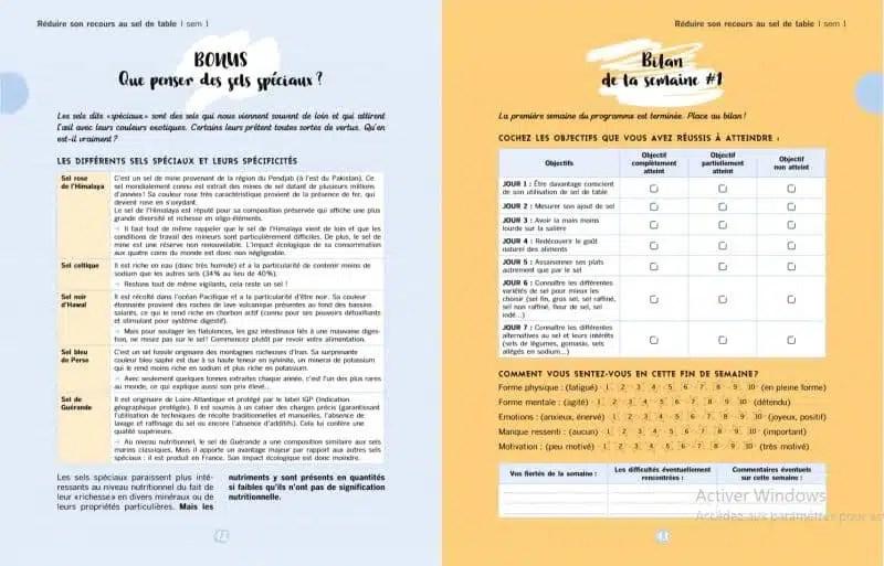 """Extraits du livre """"1 mois pour réduire le sel"""" aux éditions Hachette"""