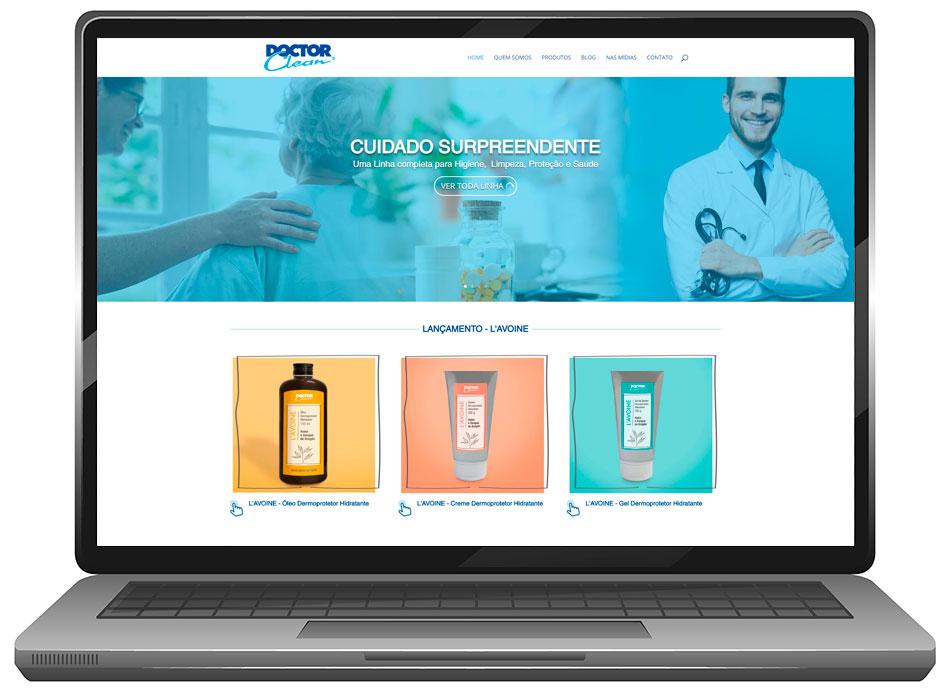 Depois novo site da Doctor Clean