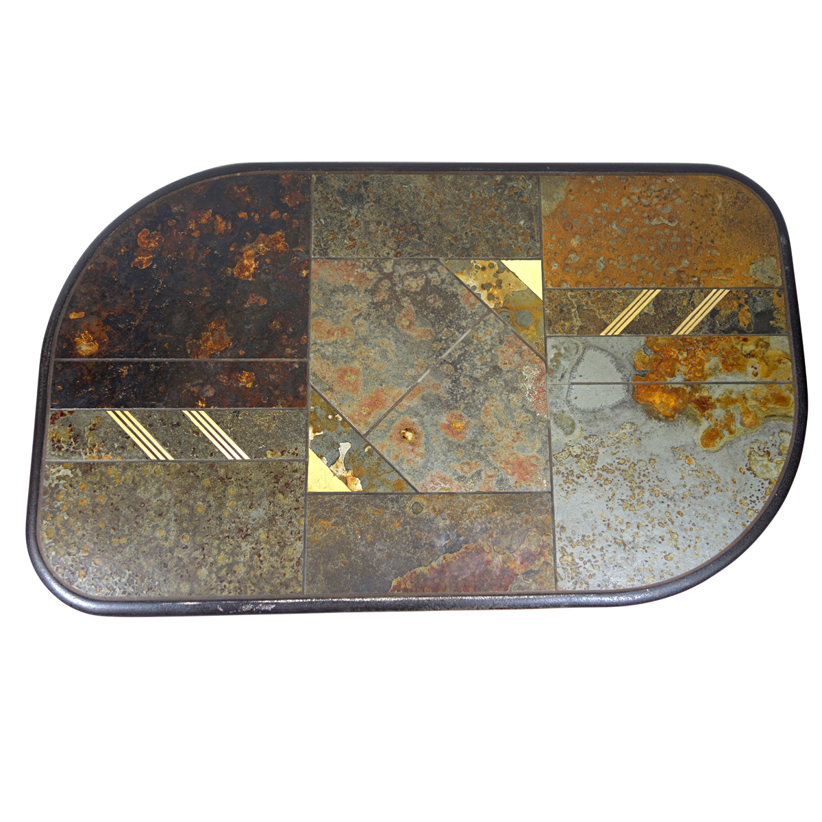 brutalist coffee table attributed to