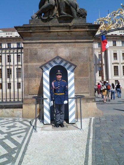 On guard, Prague May 2012