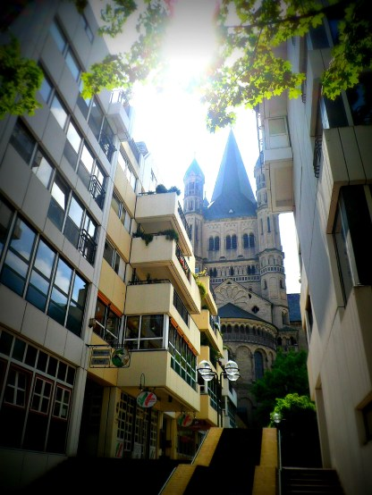 Old and new, Altstadt, Cologne