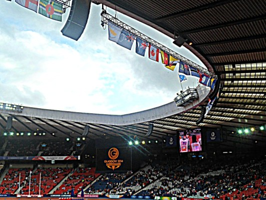Athletics at Hampden Park during Glasgow 2014 Commonwealth Games