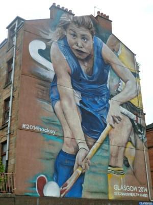 Hockey street art Glasgow 2014 Commonwealth Games