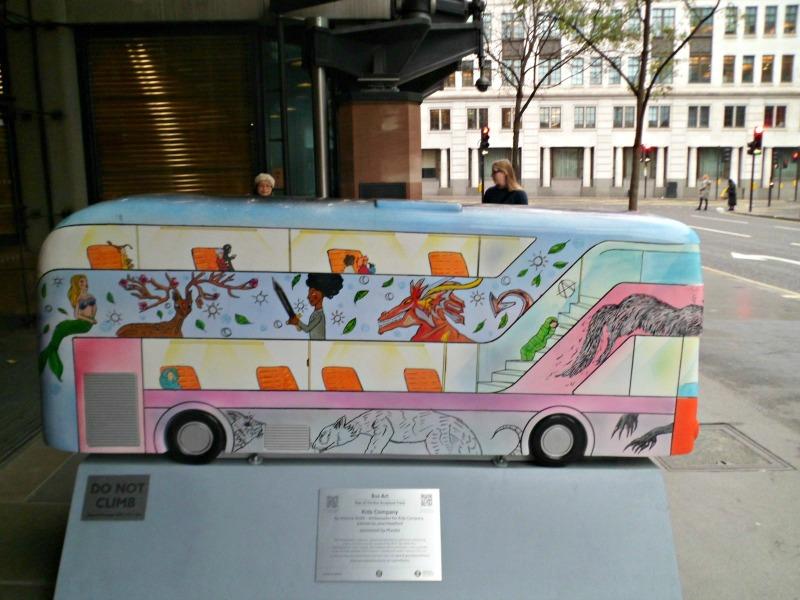 Childhood on a Bus sculpture, London