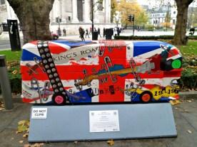 Punk'ed bus sculpture, London